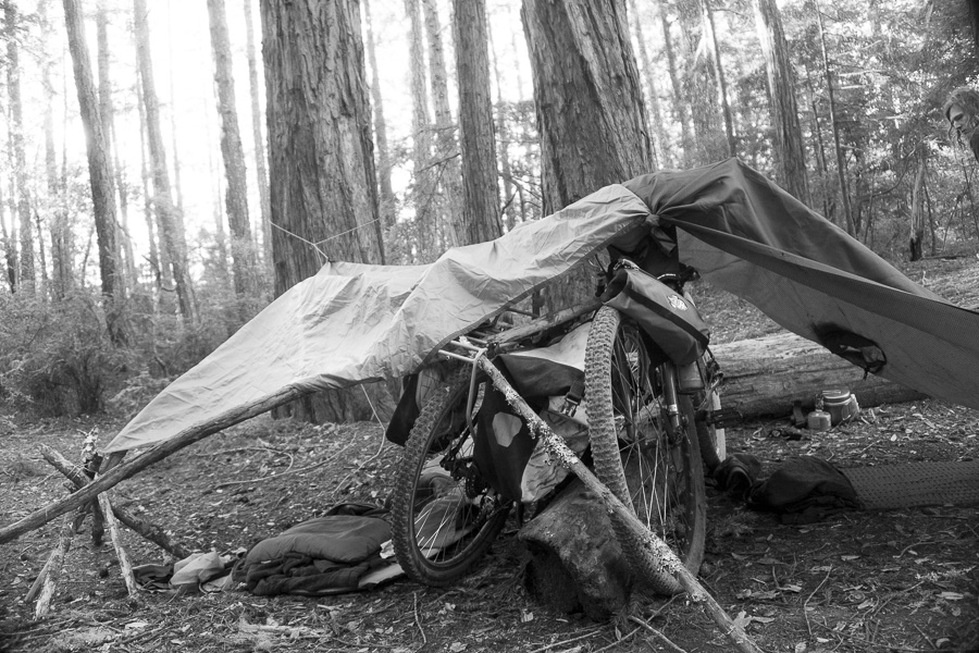 09__2015-01-19-big-basin-wadell-bikepacking-trev-chris_090-bike-shelter-leanto-tarp